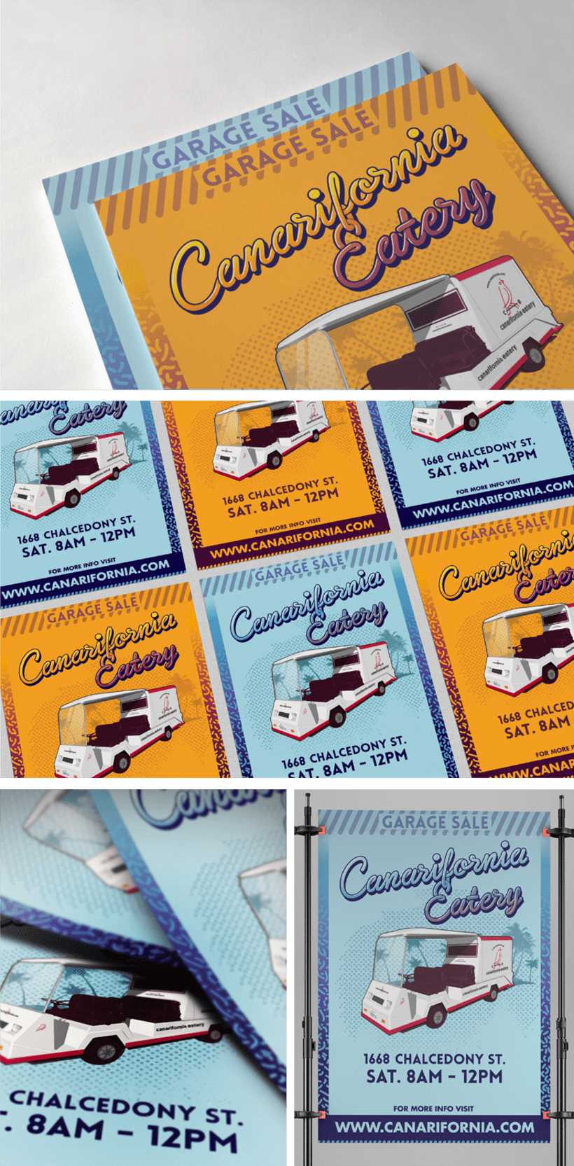Canarifornia Eatery // Poster & Flyers 1