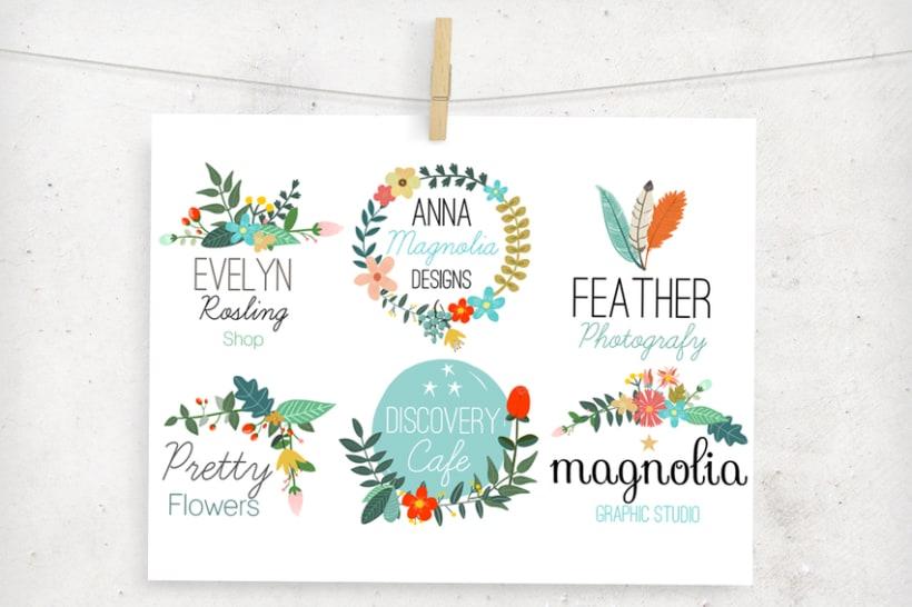 Premade Floral Logos 1