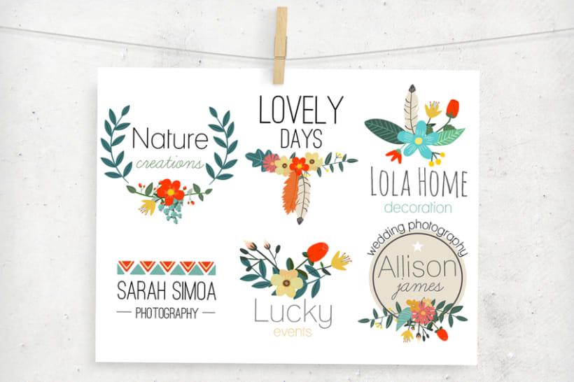 Premade Floral Logos 2
