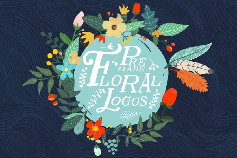 Premade Floral Logos 0