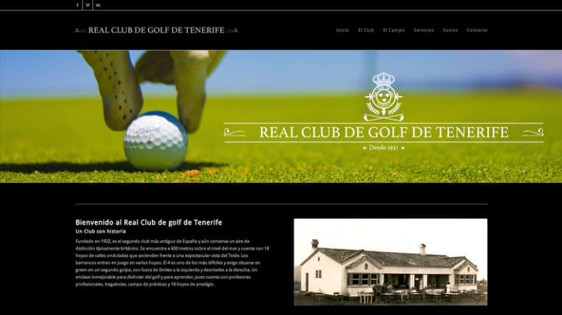 Web del Real Club de Golf de Tenerife -1
