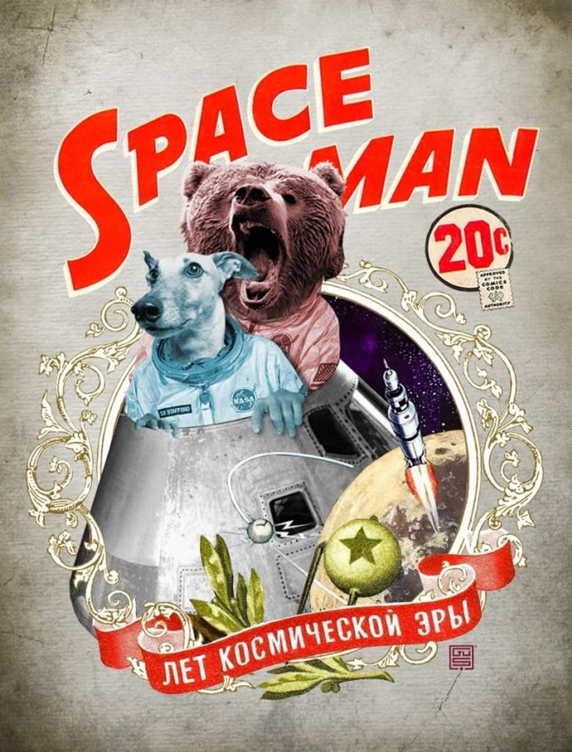 SPACE MAN / collage 3