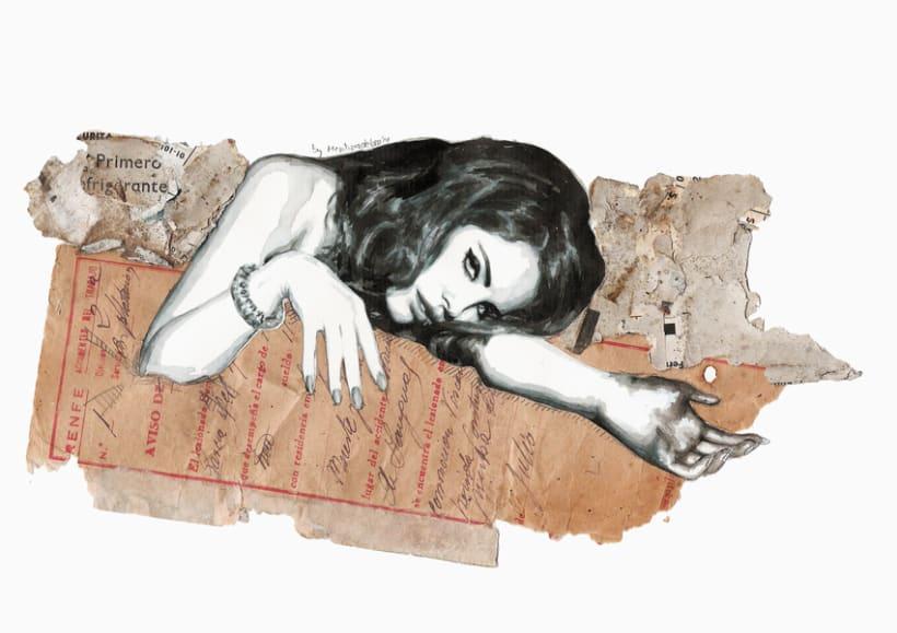 Burning poetry (Portrait of Lana del Rey) 0