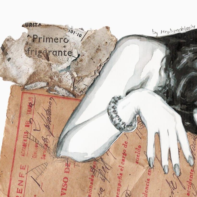 Burning poetry (Portrait of Lana del Rey) 2