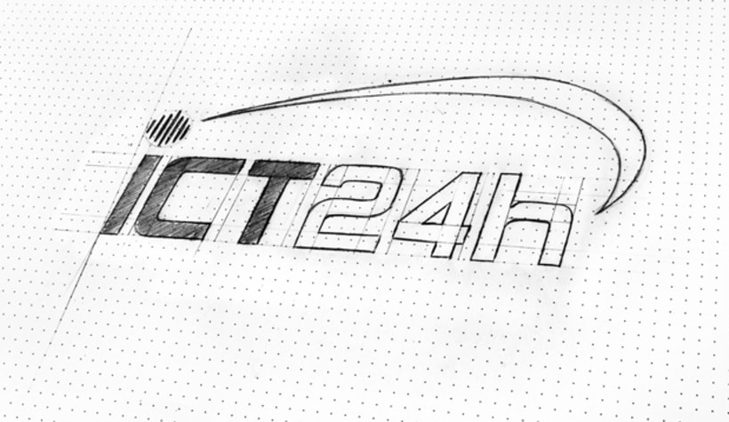 ICT24h | Logo design 2