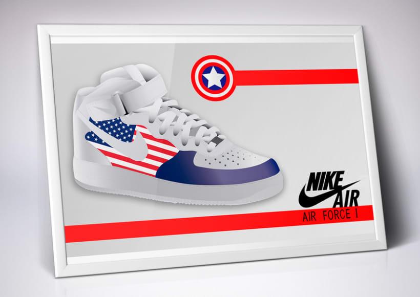 Ilustración vectorial + diseño zapatilla Nike. 0