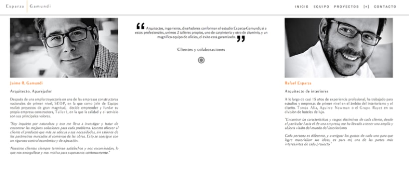 Diseño web para Esparza & Gamundi (arquitectos) 1