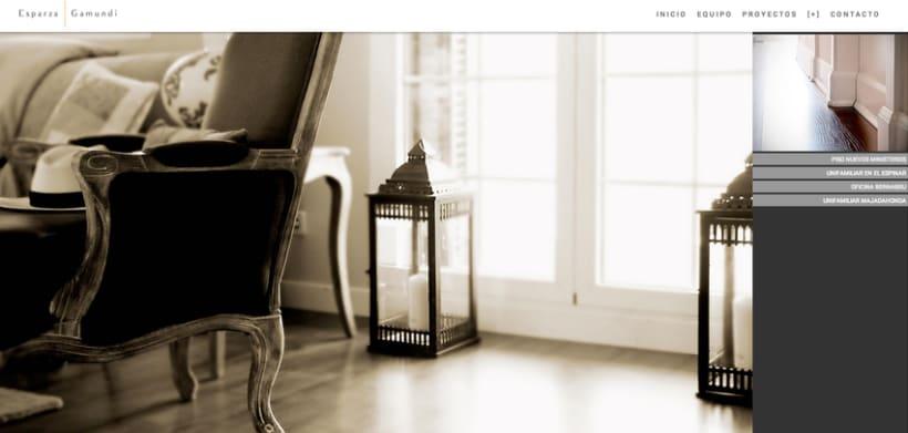 Diseño web para Esparza & Gamundi (arquitectos) 2