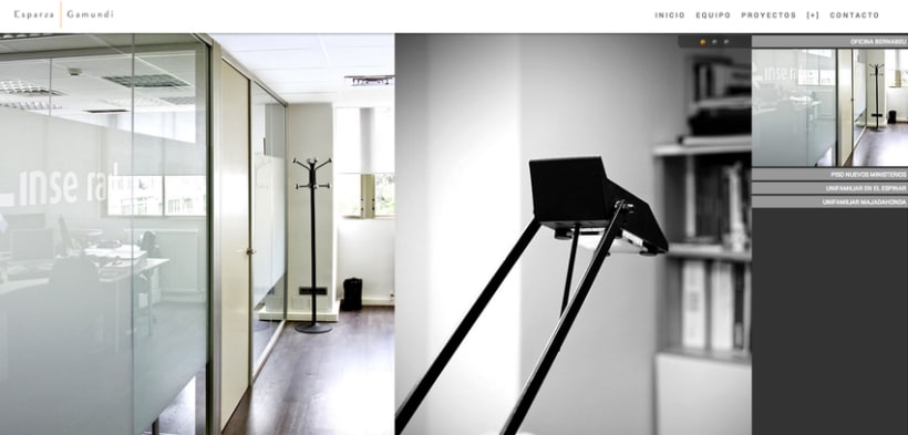 Diseño web para Esparza & Gamundi (arquitectos) 4