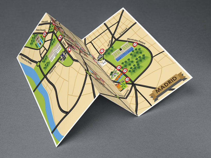 Mapa Turístico de Madrid 1