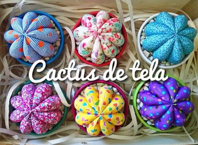 Cactus de tela - / Hechos a mano con amor / 1