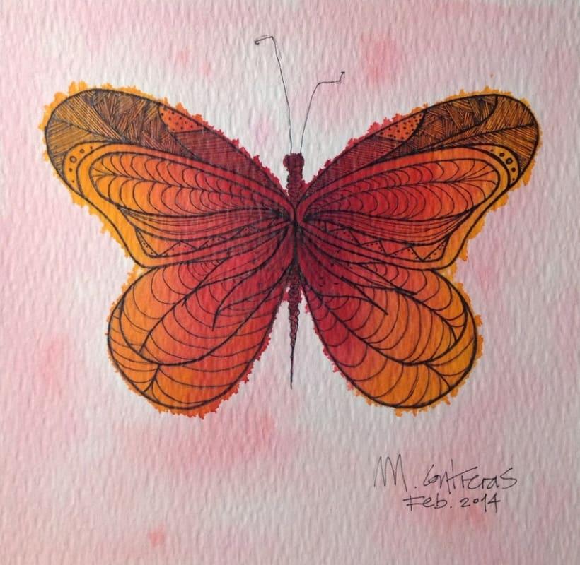 Fire butterfly -1