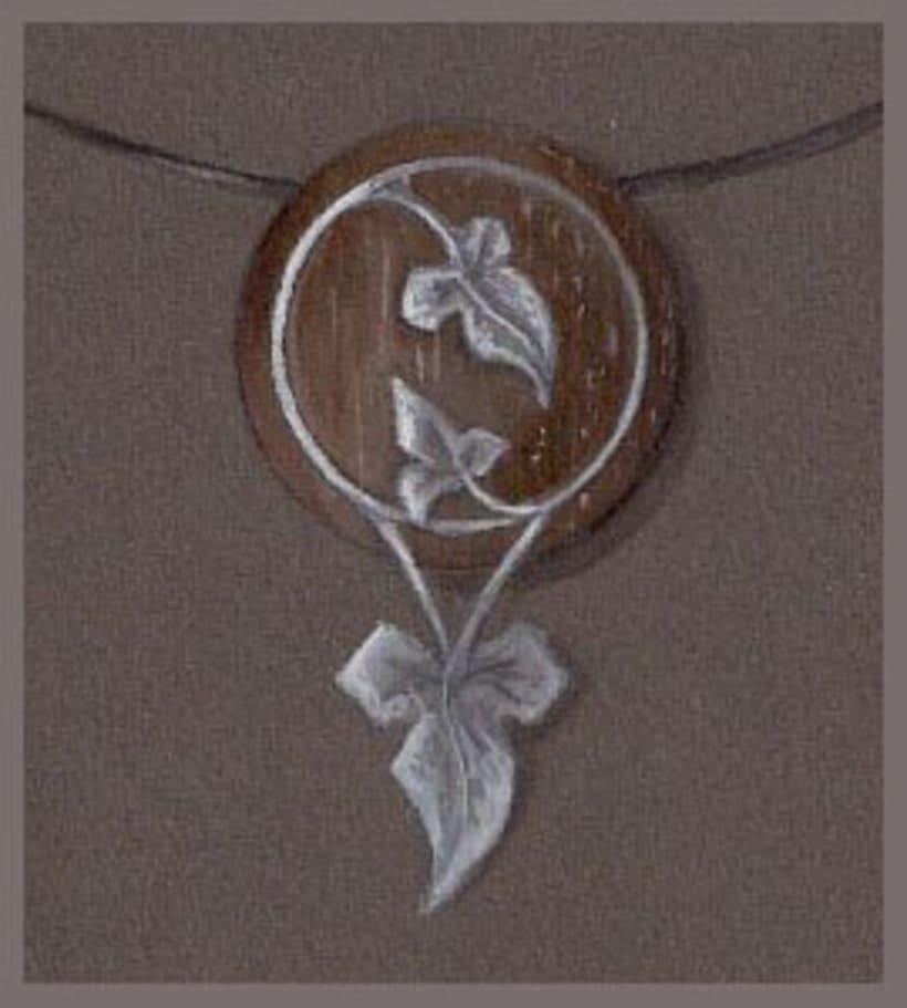 Edén, diseño de colgante en coco y plata -1