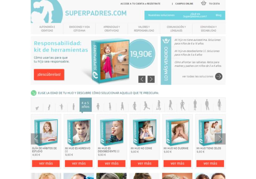 Superpadres - Contenidos web y piezas de captación 0
