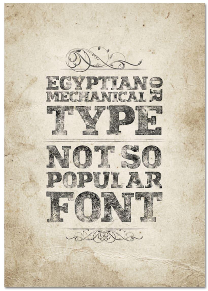 Not so popular font 18
