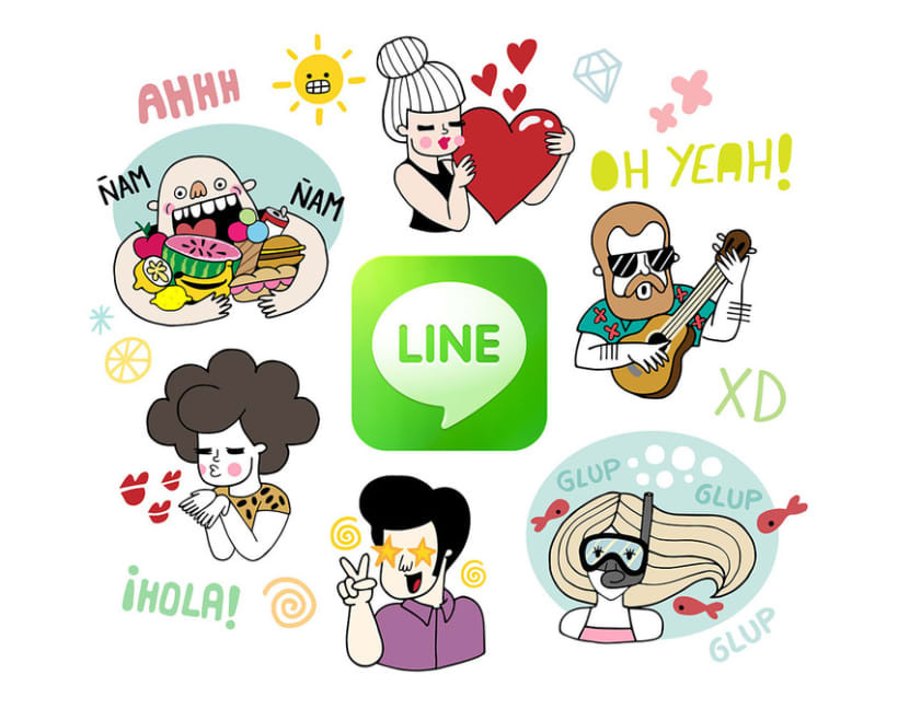 LINE Stickers - A Summer Crew 0