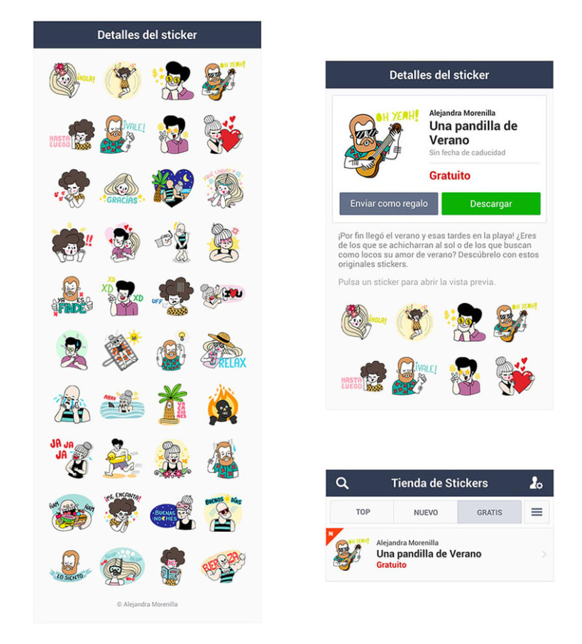 LINE Stickers - A Summer Crew 2