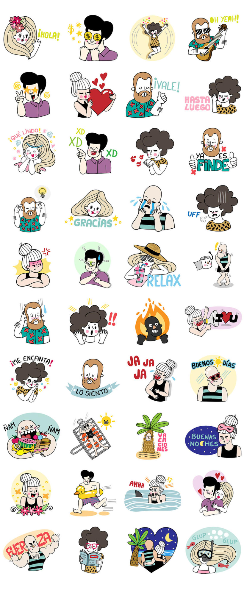 LINE Stickers - A Summer Crew 4