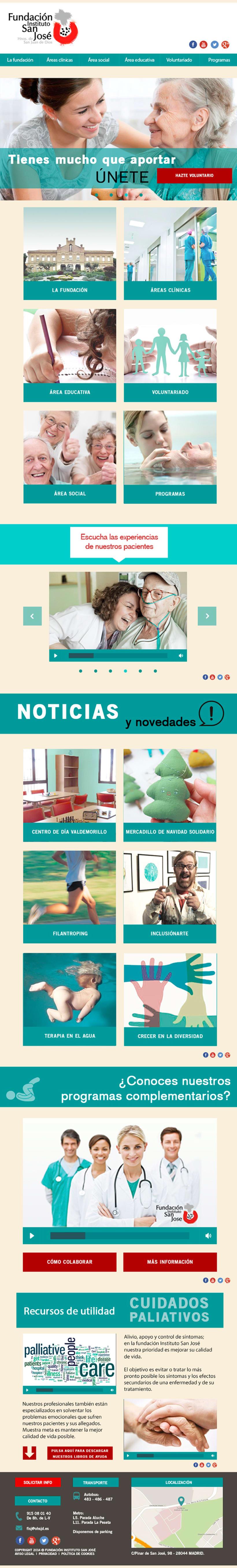 Web Fundación Instituto San José 5