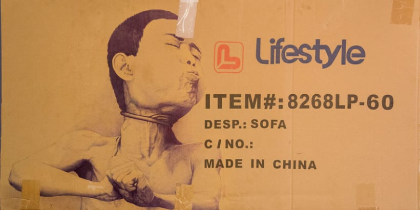 """Lifestyle made in china"". Boli sobre cartón. 0"