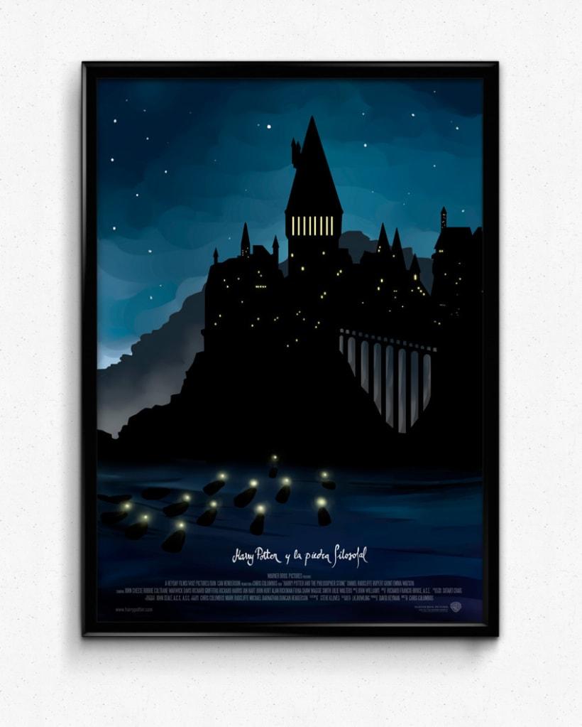 Poster tríptico de la saga Harry Potter 0