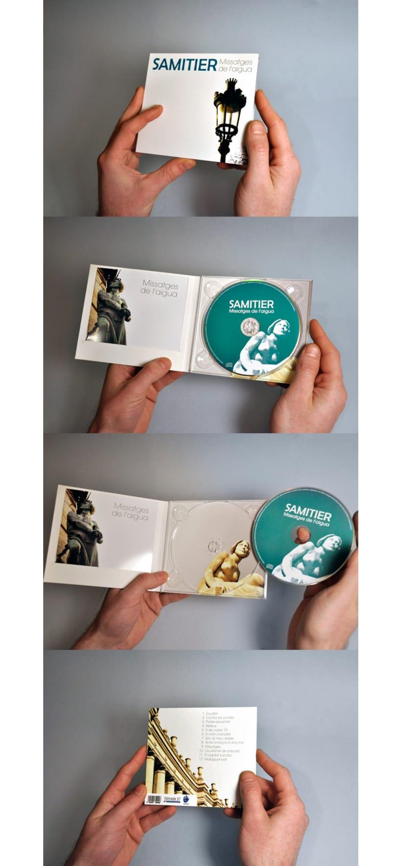 Diseño logotipo, packaging y fotografías cds SAMITIER 2