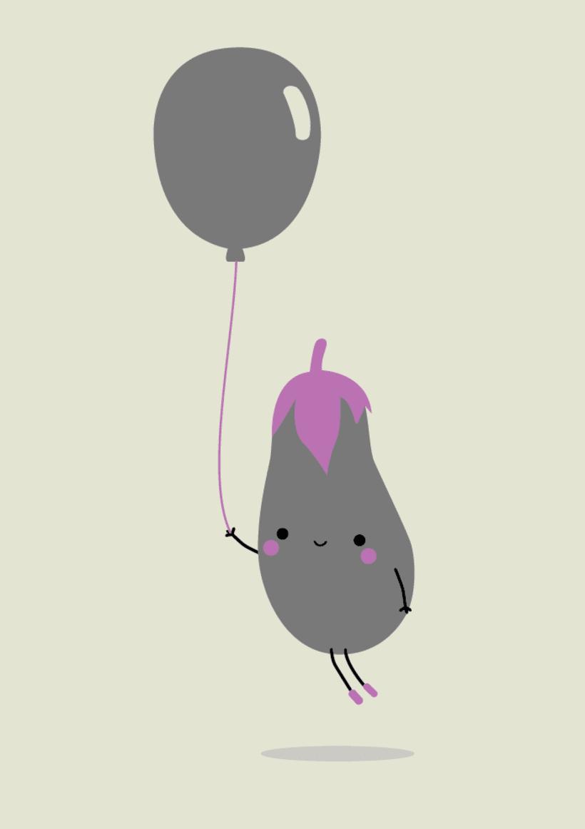 Cute Eggplant -1