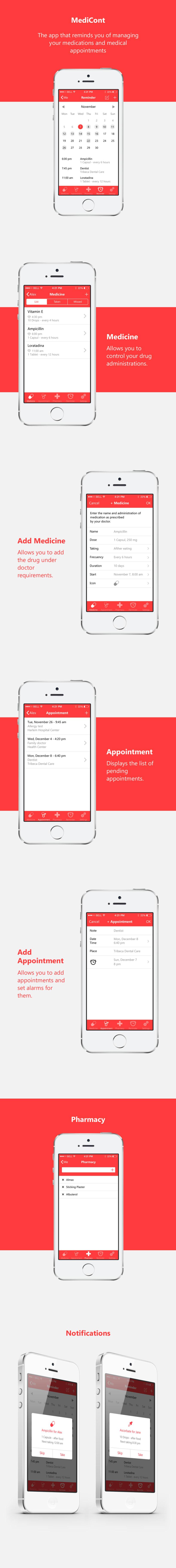 MediCont: la app que te recuerda tomar los medicamentos. 0