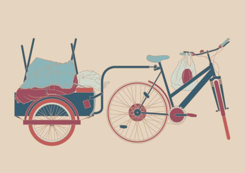 Fahrradanhänger - Digital Illustrations 1