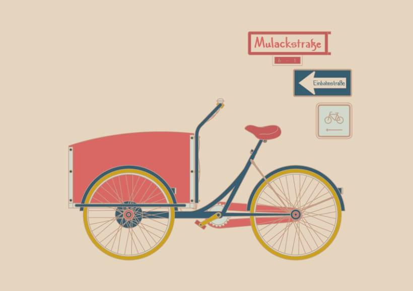 Fahrradanhänger - Digital Illustrations 4