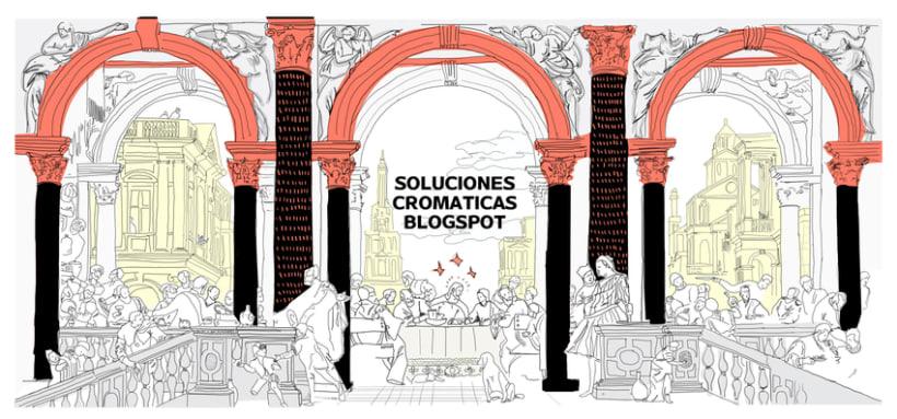 Ilustración ¨ÚLTIMA CENA¨adaptación cuadro Cena en casa de Levi de Paolo Veronese -1