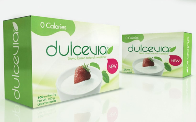 Packaging design for natural sweetener Dulcevia 1