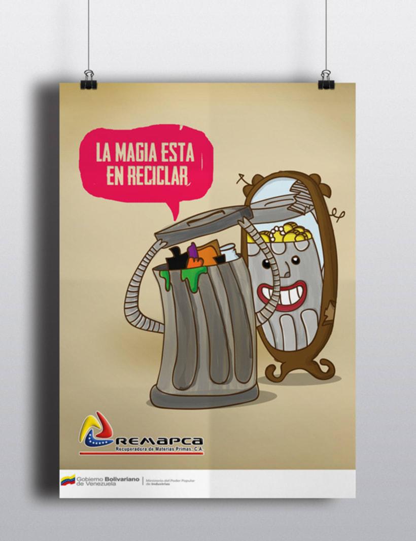Poster para campaña de reciclaje -1