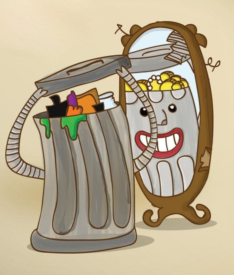 Poster para campaña de reciclaje 1