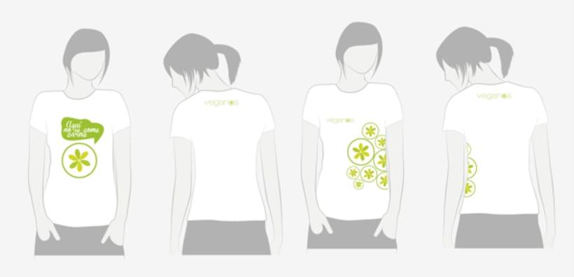 Diseño de logo y uniformes para restaurante vegetariano  0