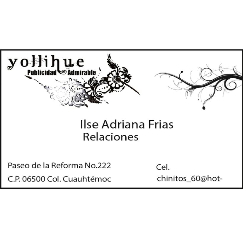 Tarjetas personales Agencia Yollihue 0