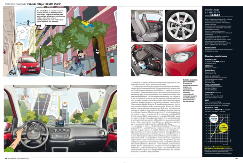 Publi-reportaje del Skoda Citygo para la revista Automóvil 3