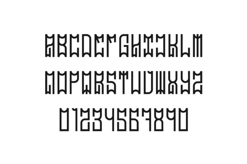 Tipografía MadrizDisplay 3