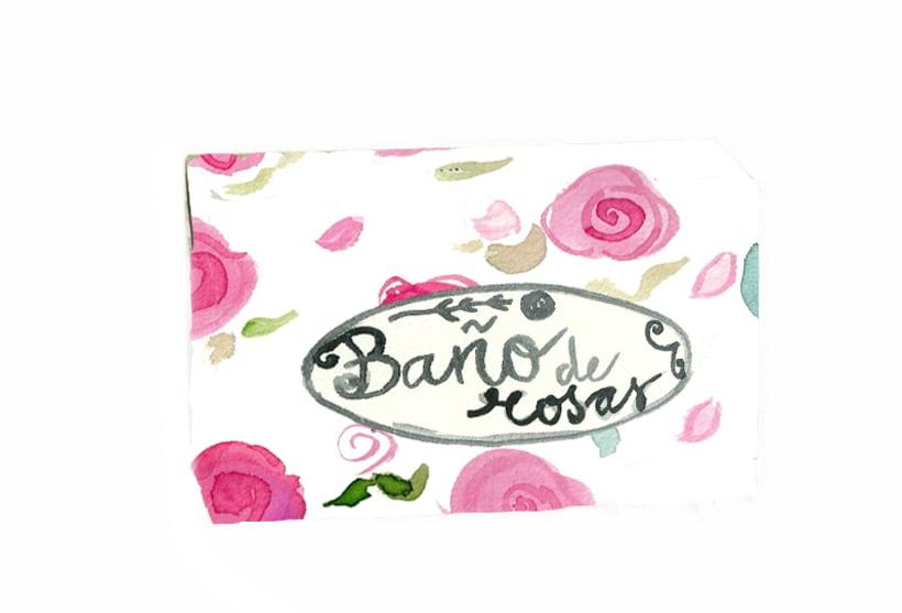 Baño de rosas,jabón con una agradable aroma a rosas. 1