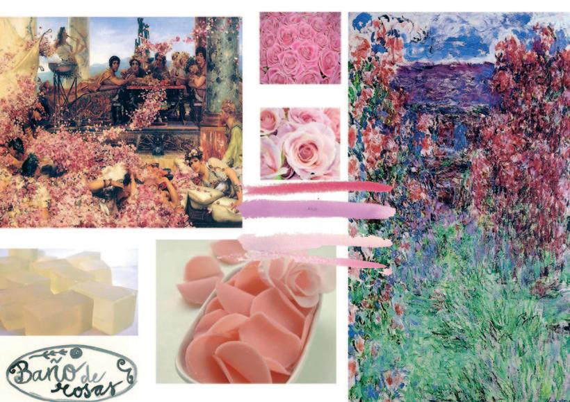 Baño de rosas,jabón con una agradable aroma a rosas. 2