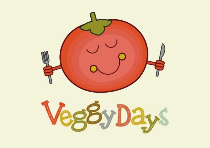 Character for a vegan food brand: Veggy Days -1