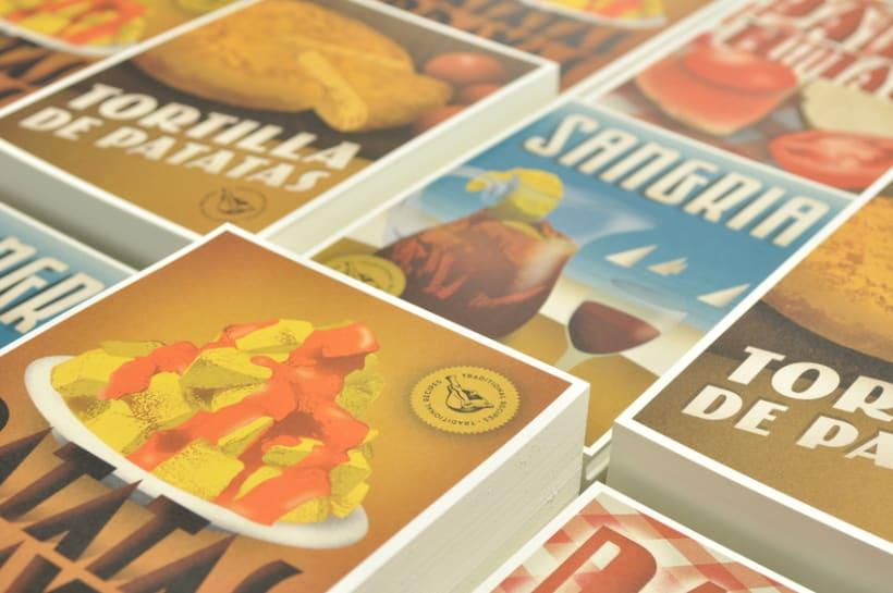 Traditional recipes postcards 0