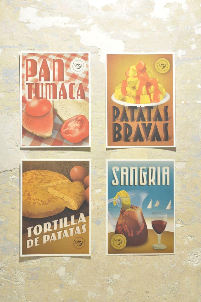 Traditional recipes postcards 1