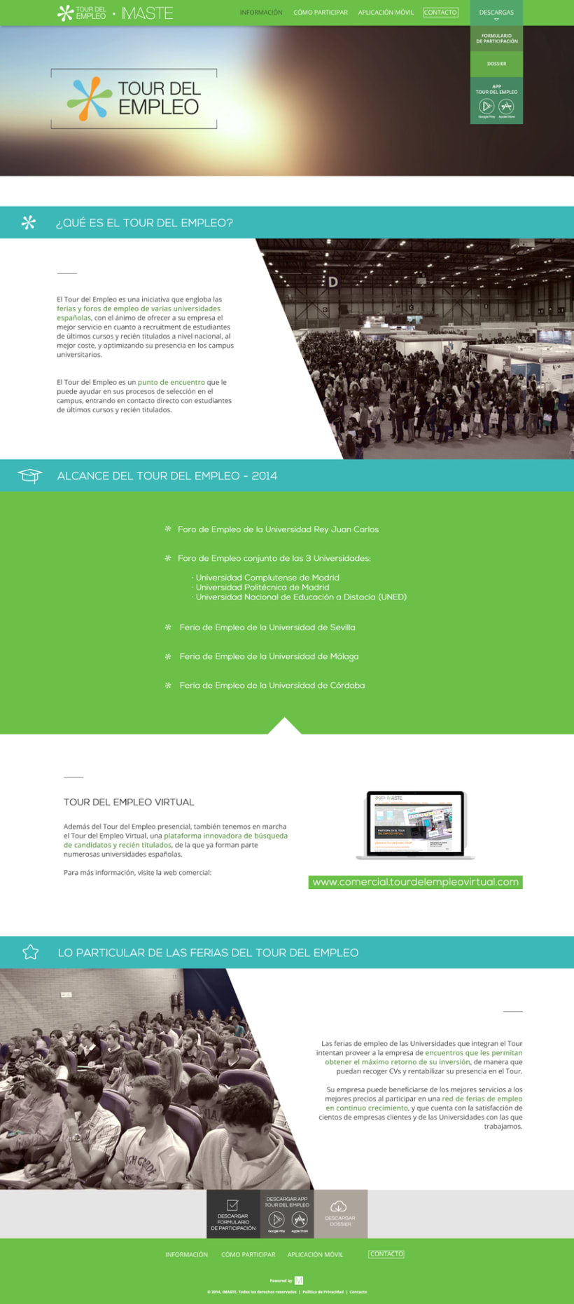 Web design & development for job fair sites 1