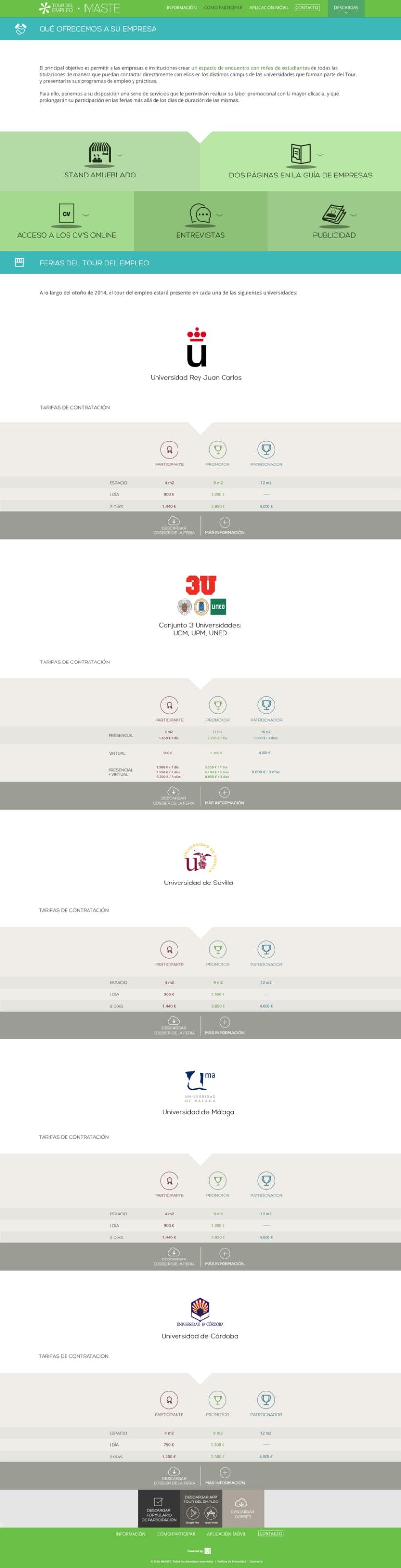 Web design & development for job fair sites 2