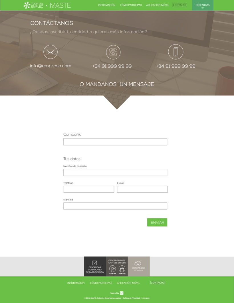Web design & development for job fair sites 4