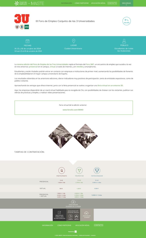 Web design & development for job fair sites 5