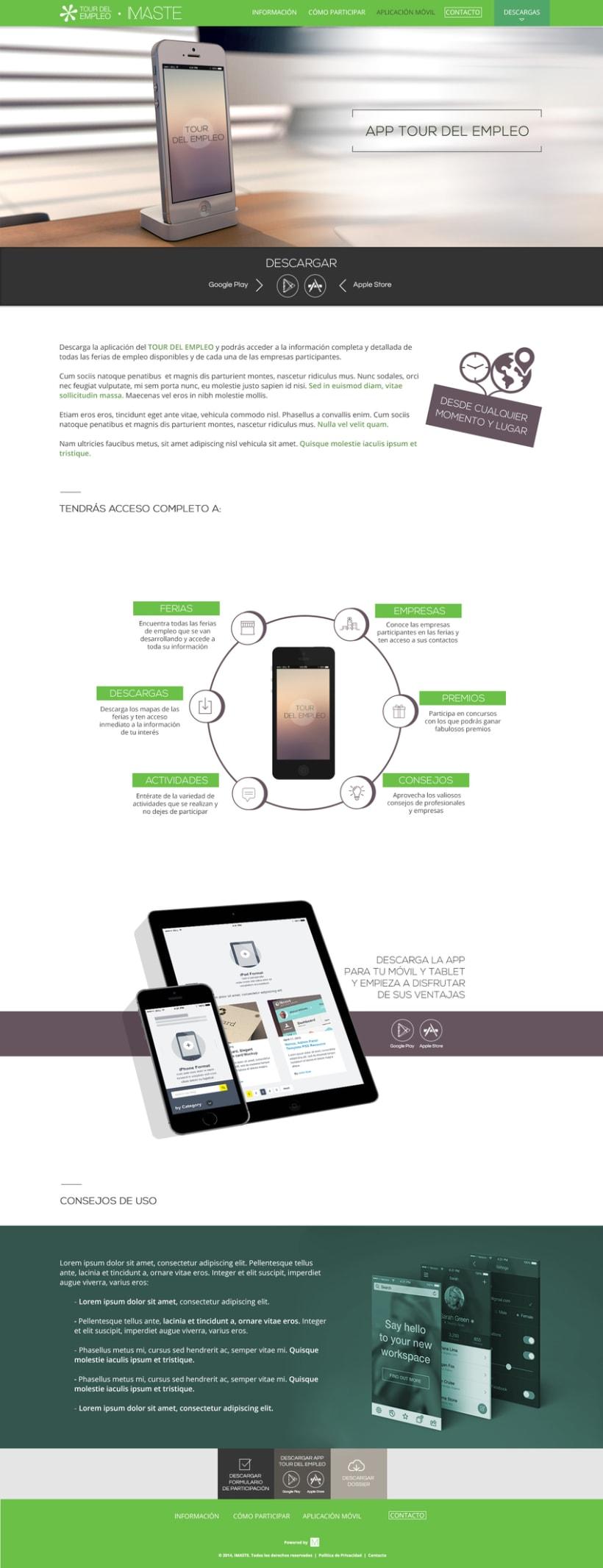 Web design & development for job fair sites 3