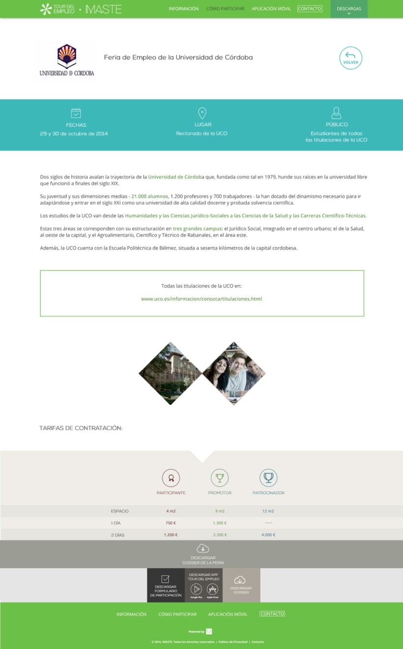 Web design & development for job fair sites 6