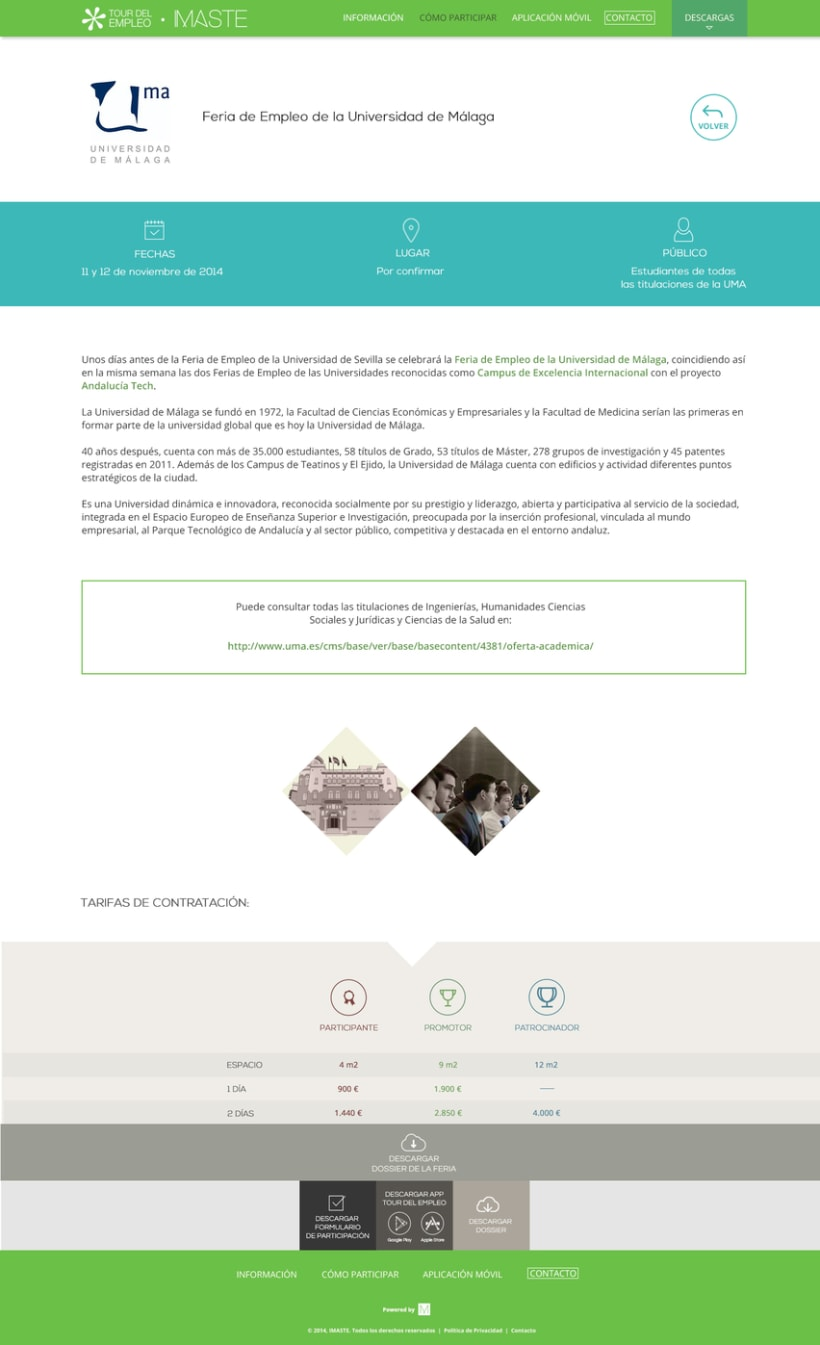 Web design & development for job fair sites 7